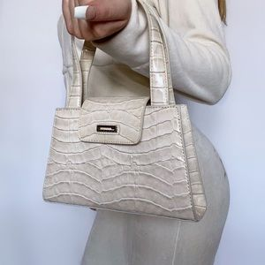 Guess Y2K Croc-Pattern Mini Hand Bag